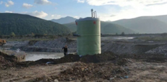 Construction case of integrated prefabricated pump station